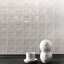 Piastrella da pavimento / in ceramica / motivi geometrici / 3D