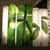 Colonna luminosa moderna / in PVC / LED / da interno