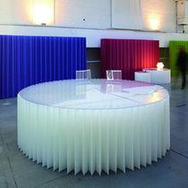 Tavolo moderno / in Plexiglas® / di carta / rotondo