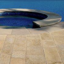 Piastrella per bagnasciuga di piscina / da pavimento / in pietra naturale / opaca