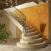 Scala a L / con gradini in pietra / con alzata / tradizionale