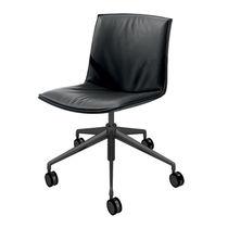 Sedia da ufficio moderna / con rotelle / con base a stella / in tessuto