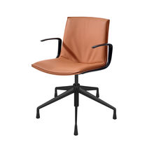 Sedia da ufficio moderna / con braccioli / con rotelle / con base a stella