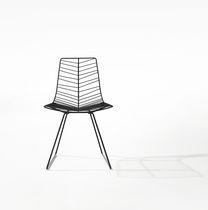 Sedia moderna / con certificazione Greenguard® / a slitta / in acciaio