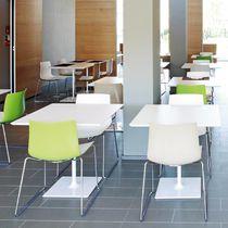 Tavolo da bistrot moderno / in MDF / in MDF laccato / in laminato