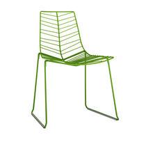 Sedia moderna / impilabile / con certificazione Greenguard® / a slitta
