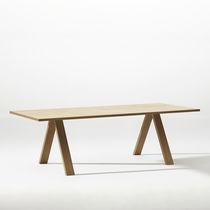 Tavolo da conferenza moderno / in legno / in acciaio / in alluminio