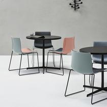 Tavolo da bistrot moderno / in legno / in HPL / in alluminio