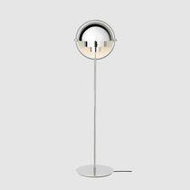 Lampada da terra / moderna / in ottone / in metallo cromato
