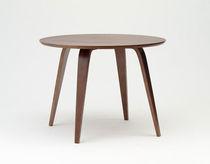 Tavolo da pranzo moderno / in noce / in compensato stampato / rotondo