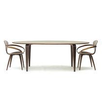 Tavolo da pranzo moderno / in noce / ovale / professionale