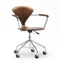 Sedia da ufficio moderna / girevole / ad altezza regolabile / con rotelle