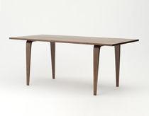 Tavolo moderno / in noce / in compensato stampato / ovale
