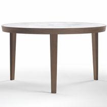 Tavolo da pranzo moderno / in marmo / in legno massiccio / rotondo