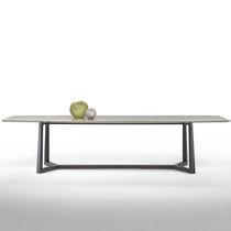 Tavolo da pranzo moderno / in vetro / in metallo / in marmo
