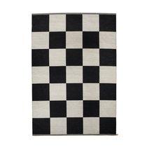 Tappeto moderno / a quadretti / in lana / rettangolare