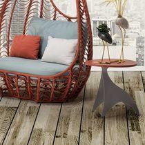 Tavolo d'appoggio moderno / in legno / in acciaio