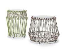 Tavolo d'appoggio moderno / in alluminio / in polietilene / rotondo