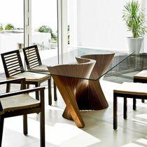 Tavolo da pranzo moderno / in noce / in legno massiccio / in frassino