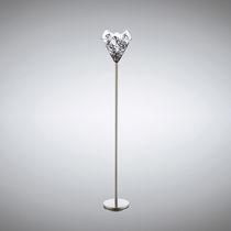 Lampada con piede / moderna / in metallo / in vetro soffiato