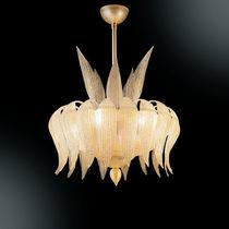 Lampada a sospensione / classica / in metallo / in vetro soffiato