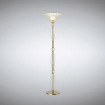 Lampada con piede / classica / in metallo / in vetro soffiato