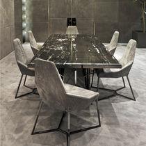 Tavolo moderno / in metallo / in marmo / rettangolare