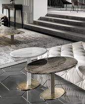Tavolo moderno / in pelle / in marmo / in ottone