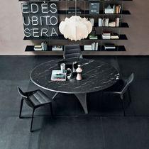 Tavolo da pranzo moderno / in vetro / in cemento / rotondo