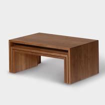 Tavolino basso moderno / in quercia / in noce / in faggio