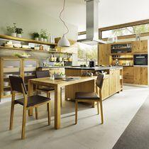 Cucina moderna / in pietra / in acero / in ciliegio