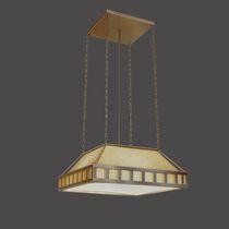 Lampada a sospensione / classica / in vetro / in ottone