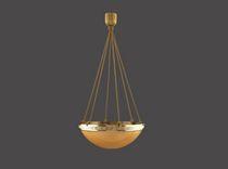 Lampada a sospensione / classica / in vetro soffiato / in ottone