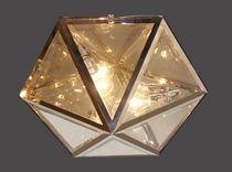 Plafoniera classica / in vetro / in ottone / LED