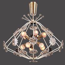 Lampadario in stile / in cristallo / in ottone