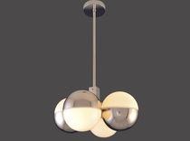 Lampada a sospensione / moderna / in vetro / in ottone