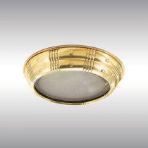 Plafoniera classica / rotonda / in vetro / in ottone