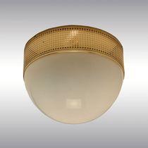 Plafoniera classica / rotonda / in ottone / in vetro soffiato