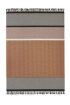 Tappeto moderno / a righe / in fibra di carta / rettangolare