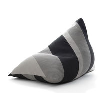 Poltrona a sacco design originale / in cotone / in fibra di carta / con rivestimento rimovibile