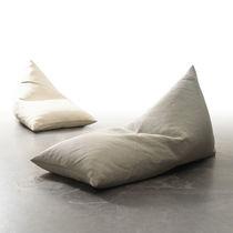 Poltrona a sacco moderna / in cotone / in fibra di carta / con rivestimento rimovibile