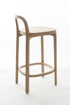 Sedia alta moderna / in pelle / in legno