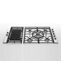 Piano cottura a gas / con grill / in ghisa / in acciaio inox