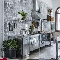 Cucina moderna / in legno / in acciaio inox