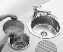 Lavello a 2 vasche / in acciaio inox / rotondo