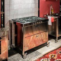Blocco cucina a gas / in ghisa / in acciaio inox / con grill