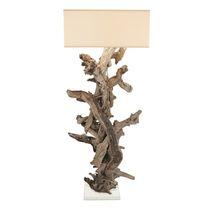 Lampada con piede / design originale / in acciaio laccato / in cotone