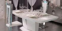 Tavolo moderno / in vetro laccato / bianco