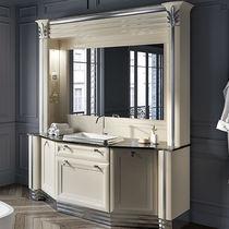 Mobile lavabo da appoggio / in legno / in vetro / classico