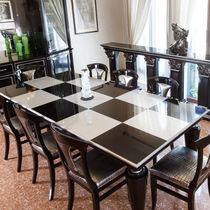 Tavolo da pranzo classico / in legno laccato / rettangolare